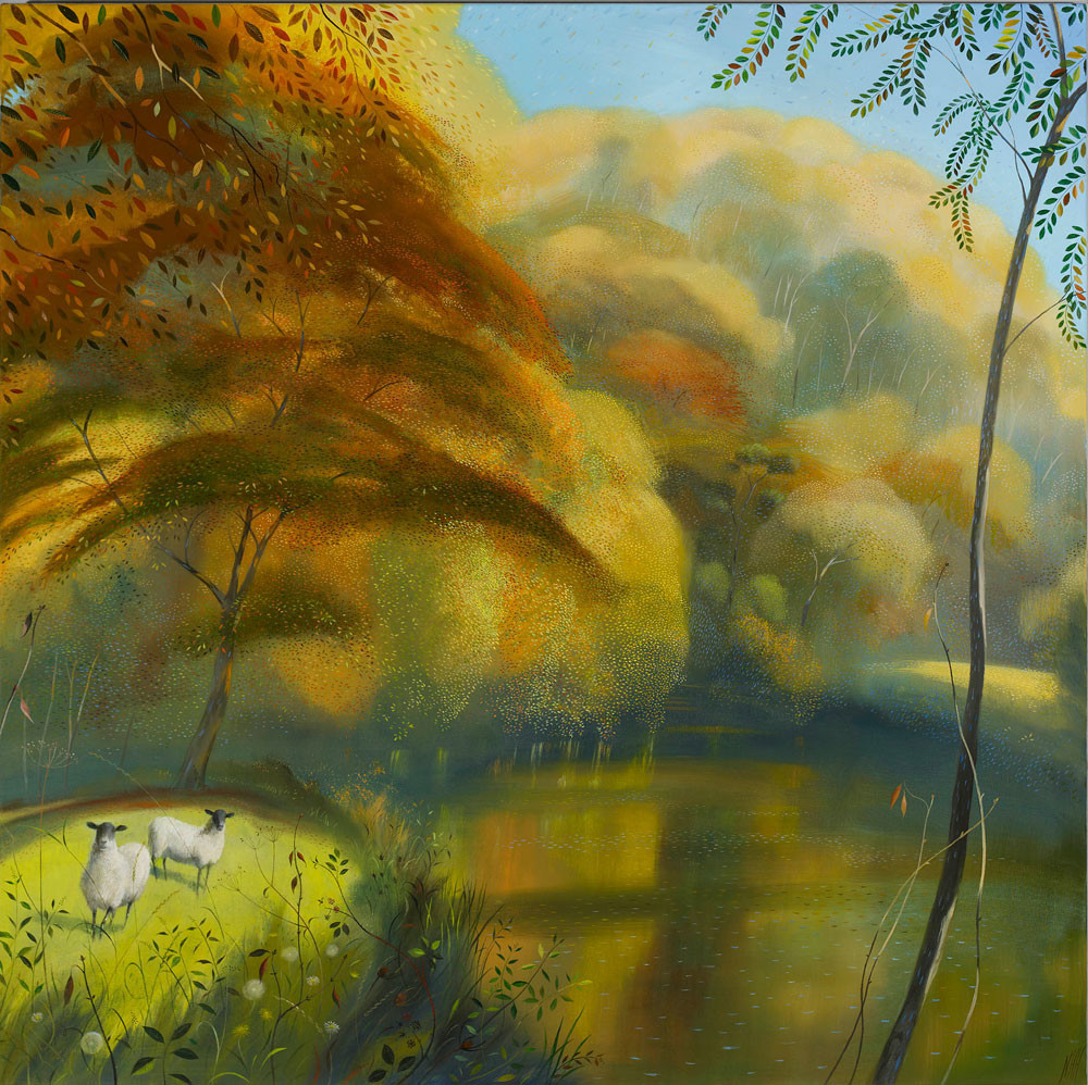 Golden Autumn Trees by Hod Hill