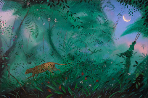 Jungle Cat and a Tropical Moon