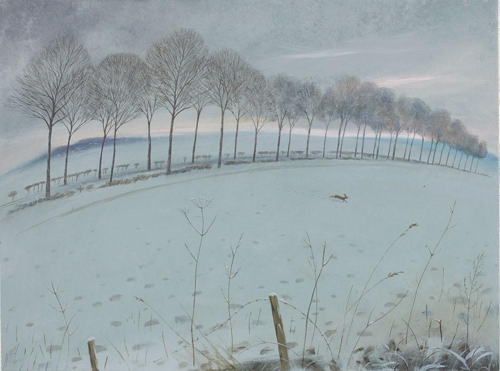 The Avenue in the Snow – Moor Crichel