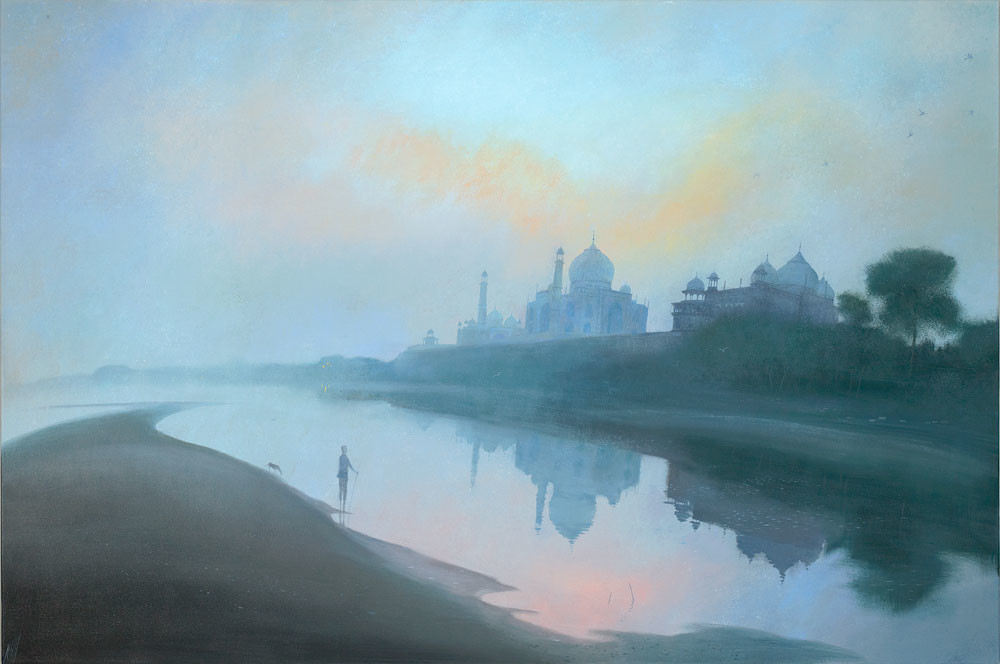 Dawn by the Taj Mahal