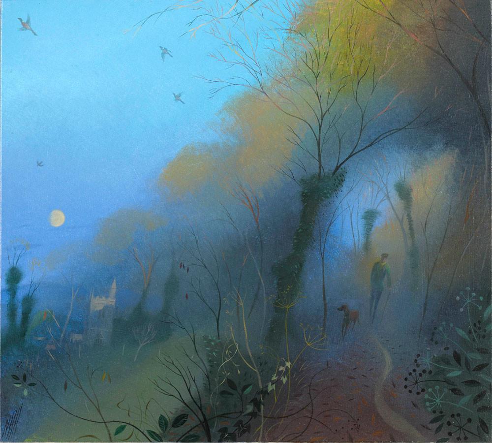 Winter Evening – Rising Moon