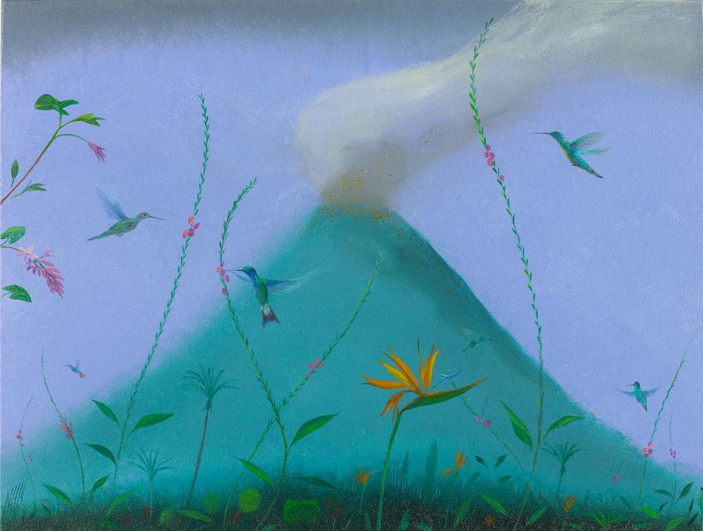 Hummingbirds Under the Volcano