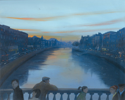 Evening on O'Connell Bridge