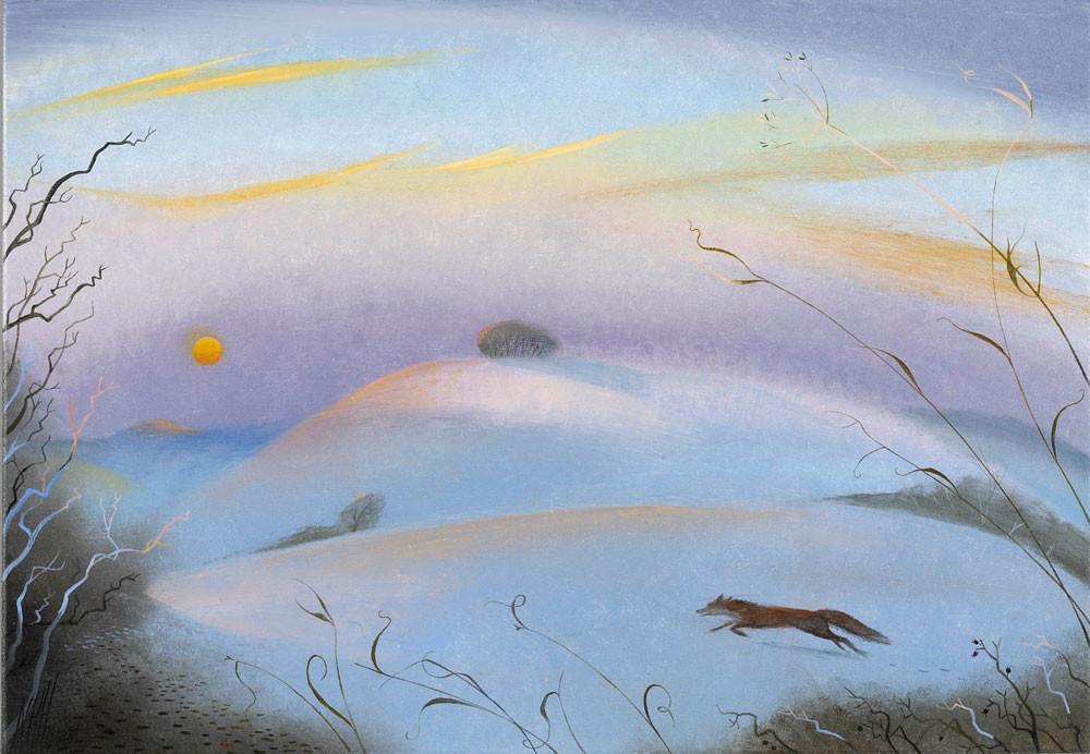 Fox in the Cold Dawn