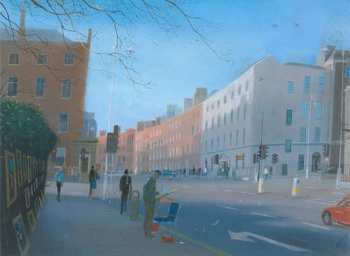 Artist in Merrion Square