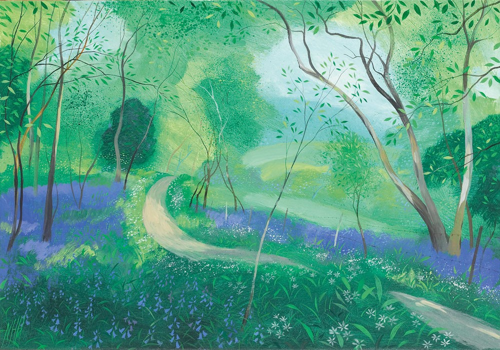 Road through the Bluebells