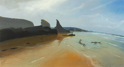 Dogs on the Shore, Bedruthan Steps