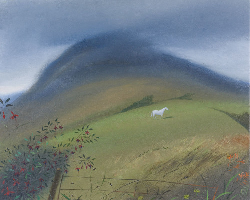 White Horse Beneath the Mountain