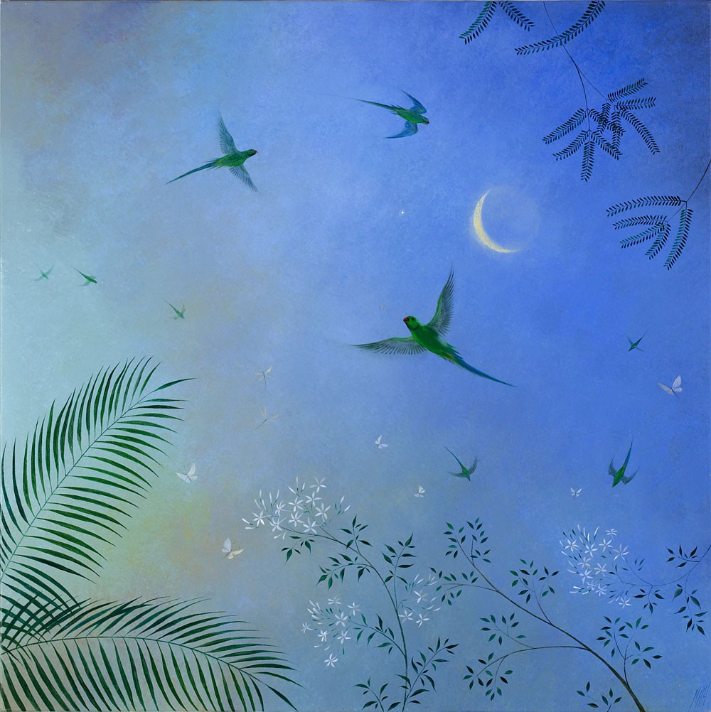 Screeching Parakeets – Indian Moon