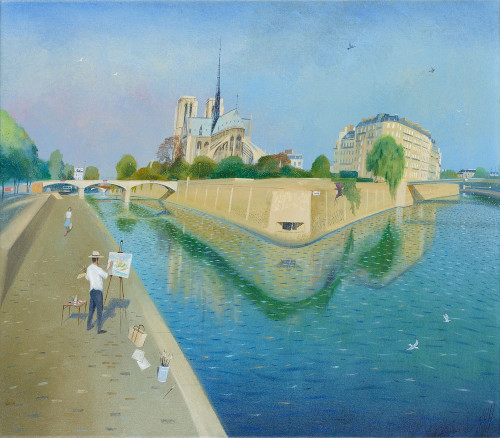 Painting by Notre Dame