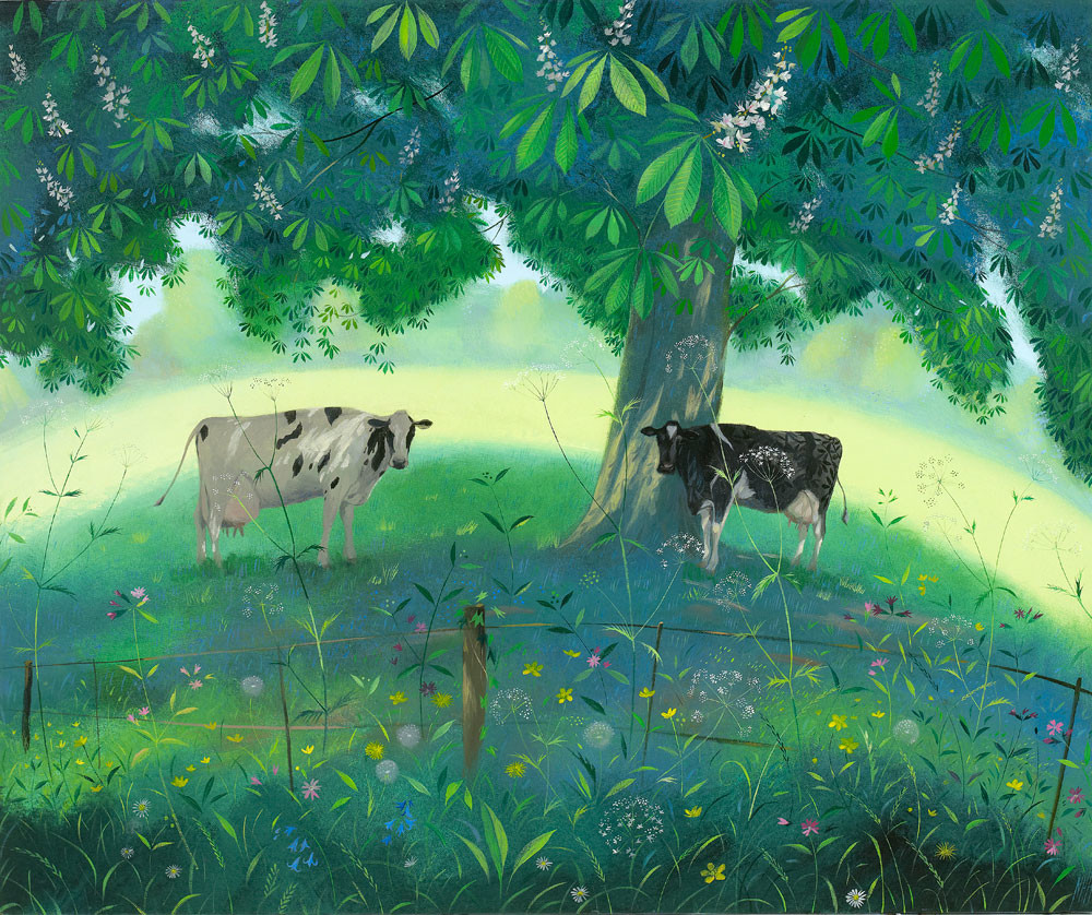 Cows Under a Horse Chestnut Tree