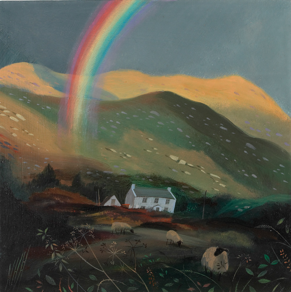 Rainbow and Cottage