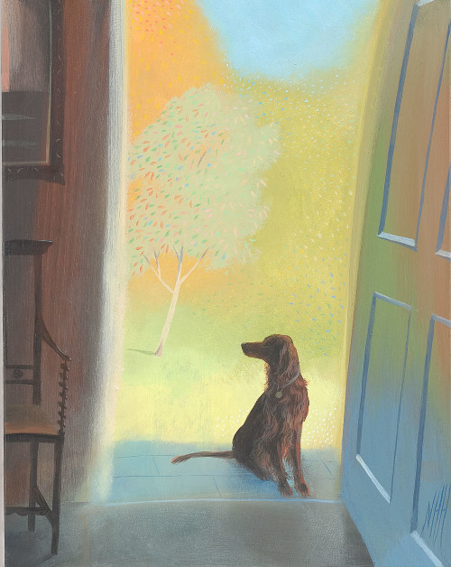 Setter in the Doorway