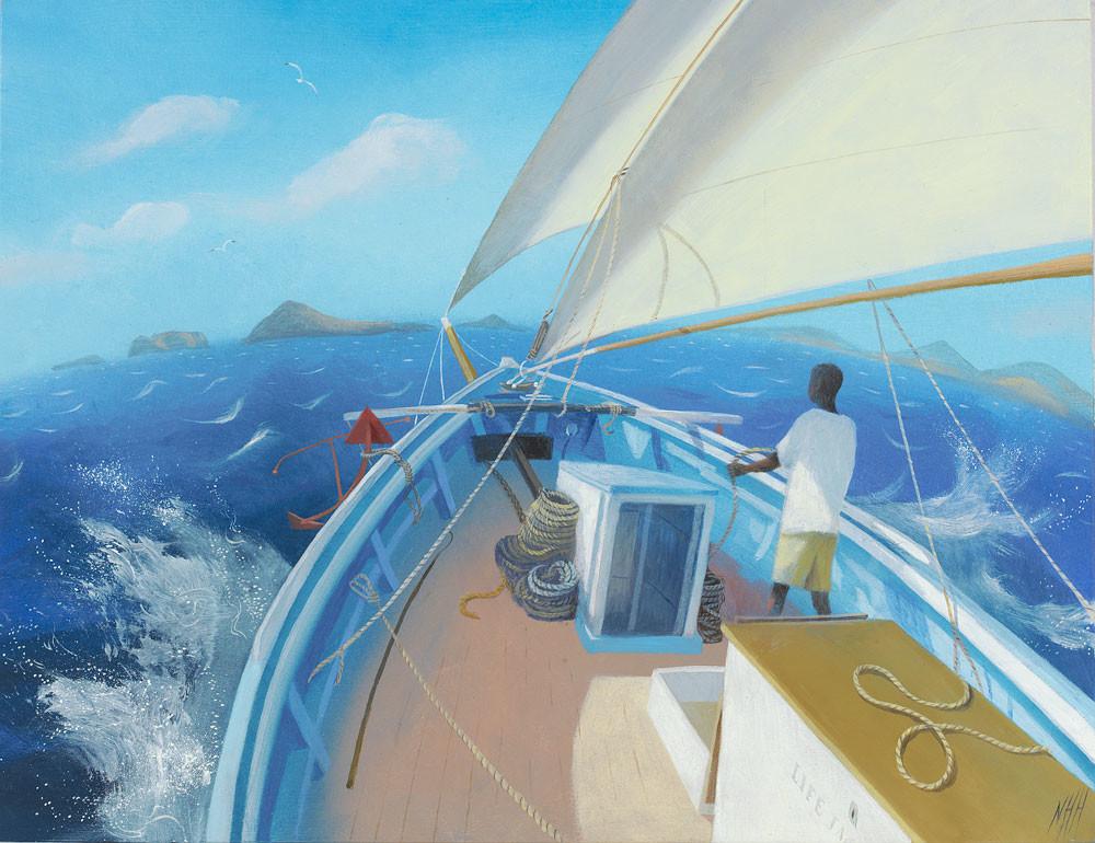 A Blue Sea, White Sails and a Warm Breeze