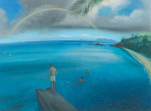 Swimming Under the Rainbow – Mustique