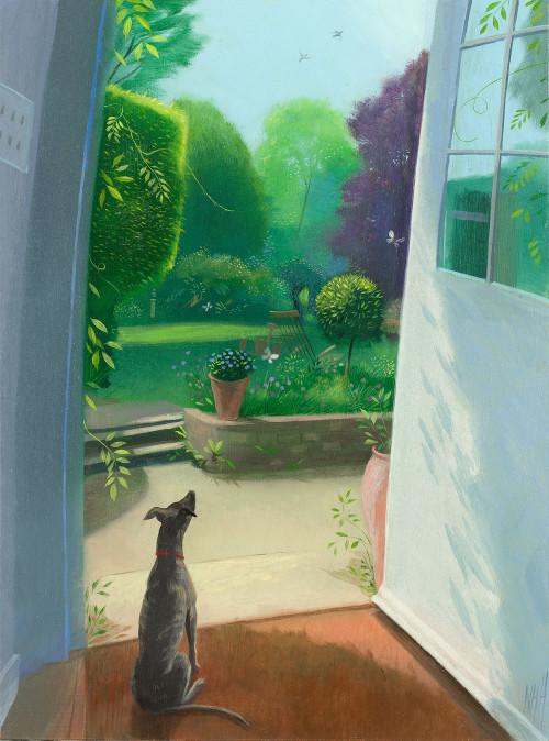 Miss Olive Observes Her Garden