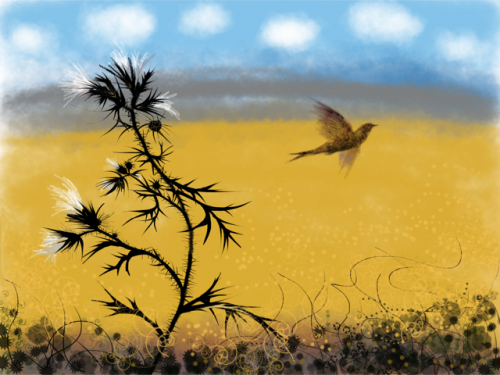Bird and Thistle