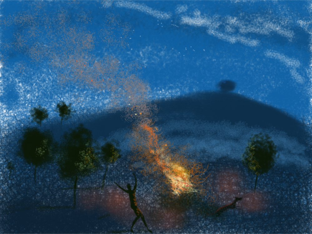 A Fire at Night