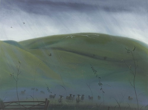 Rain over the White Horse