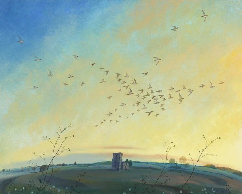 Golden Plover over Knowlton