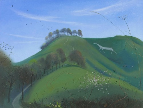 The Cherhill White Horse in Early Spring