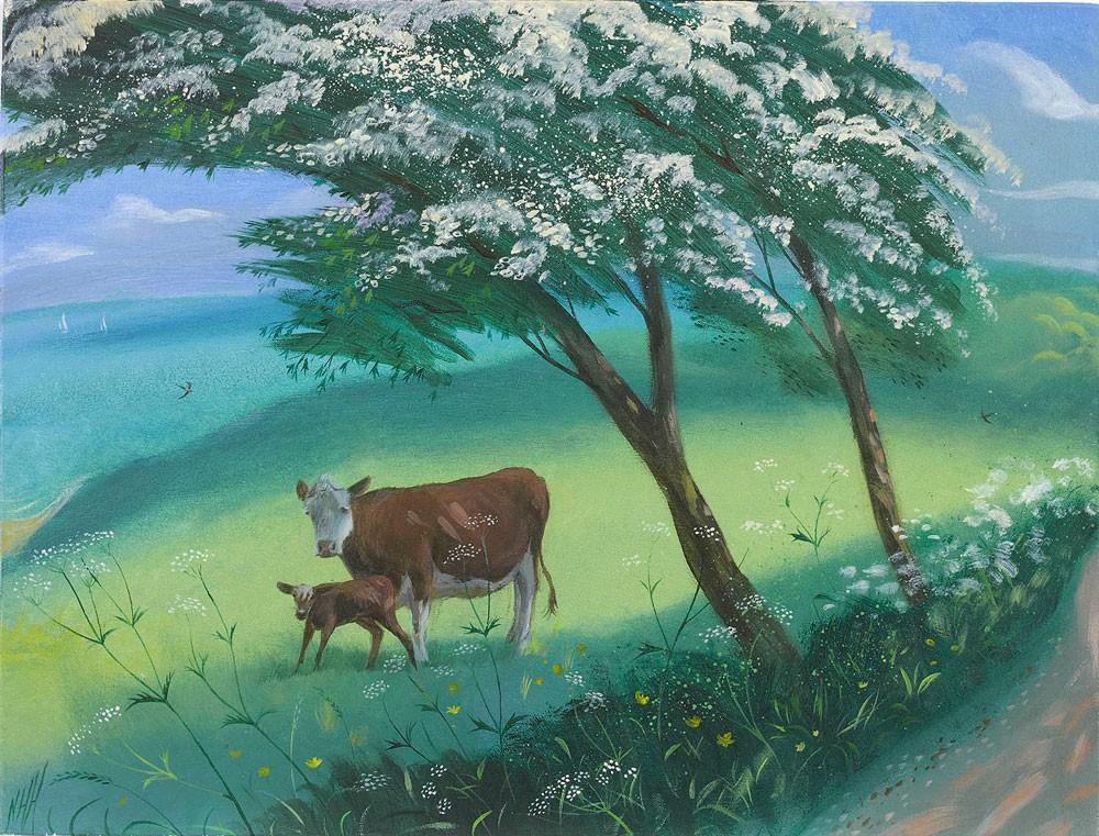 The Newborn Calf – Purbeck