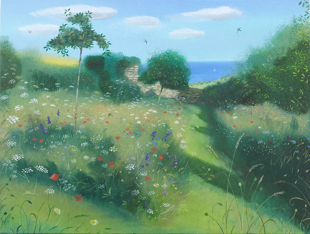 Wild Flower Orchard by the Sea