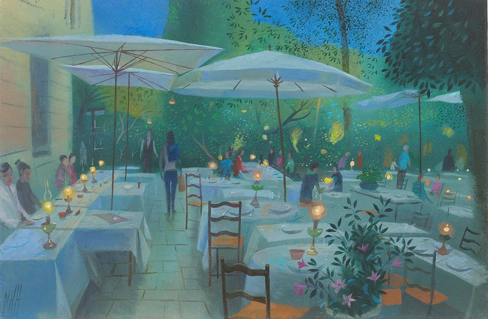 Evening at La Colombe d'Or