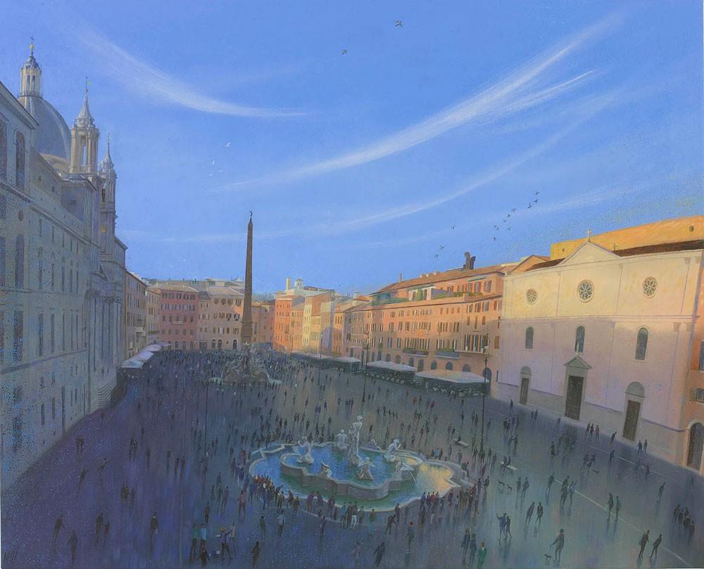 Evening in Piazza Navona