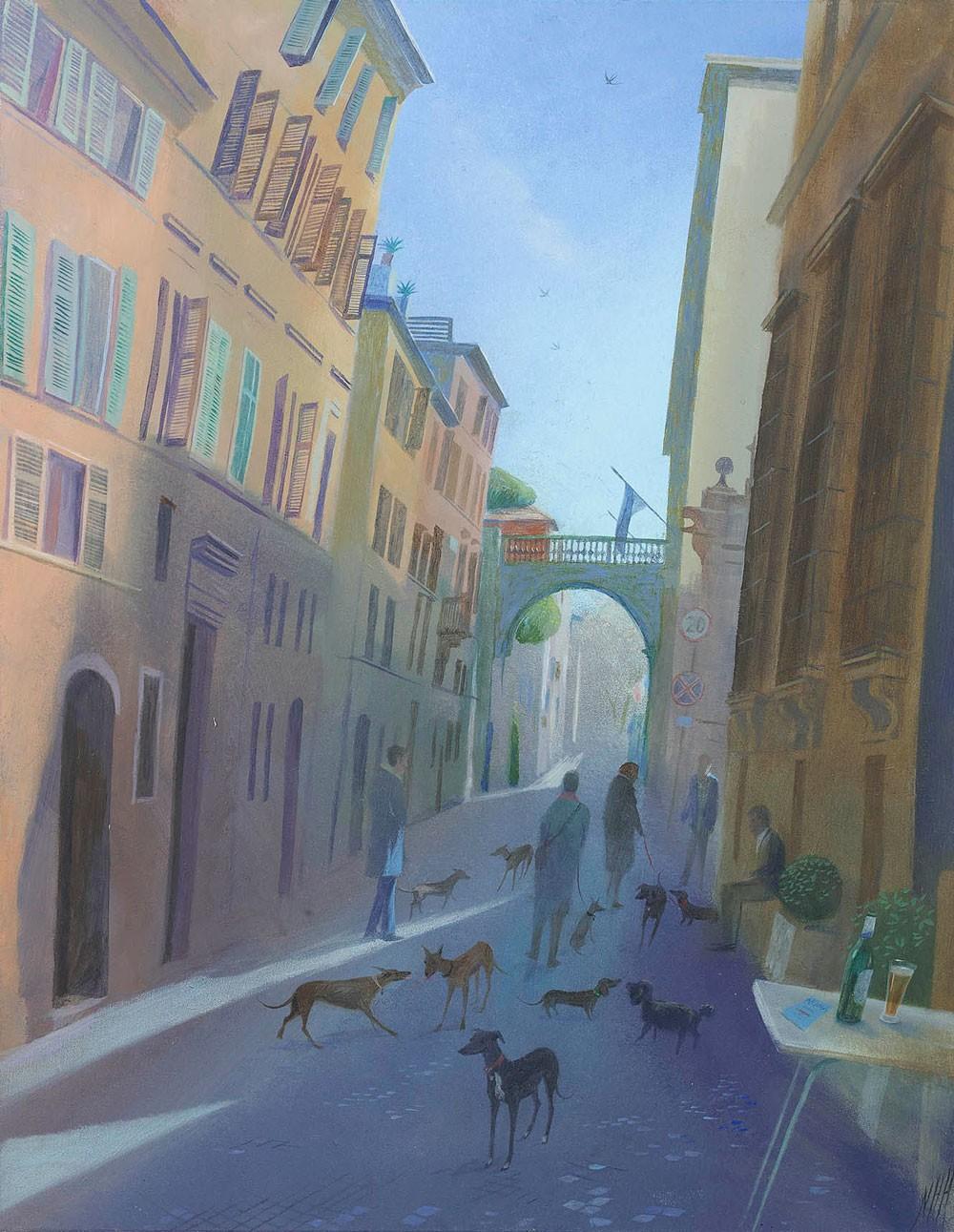 The Dog Walkers of Via Giulia