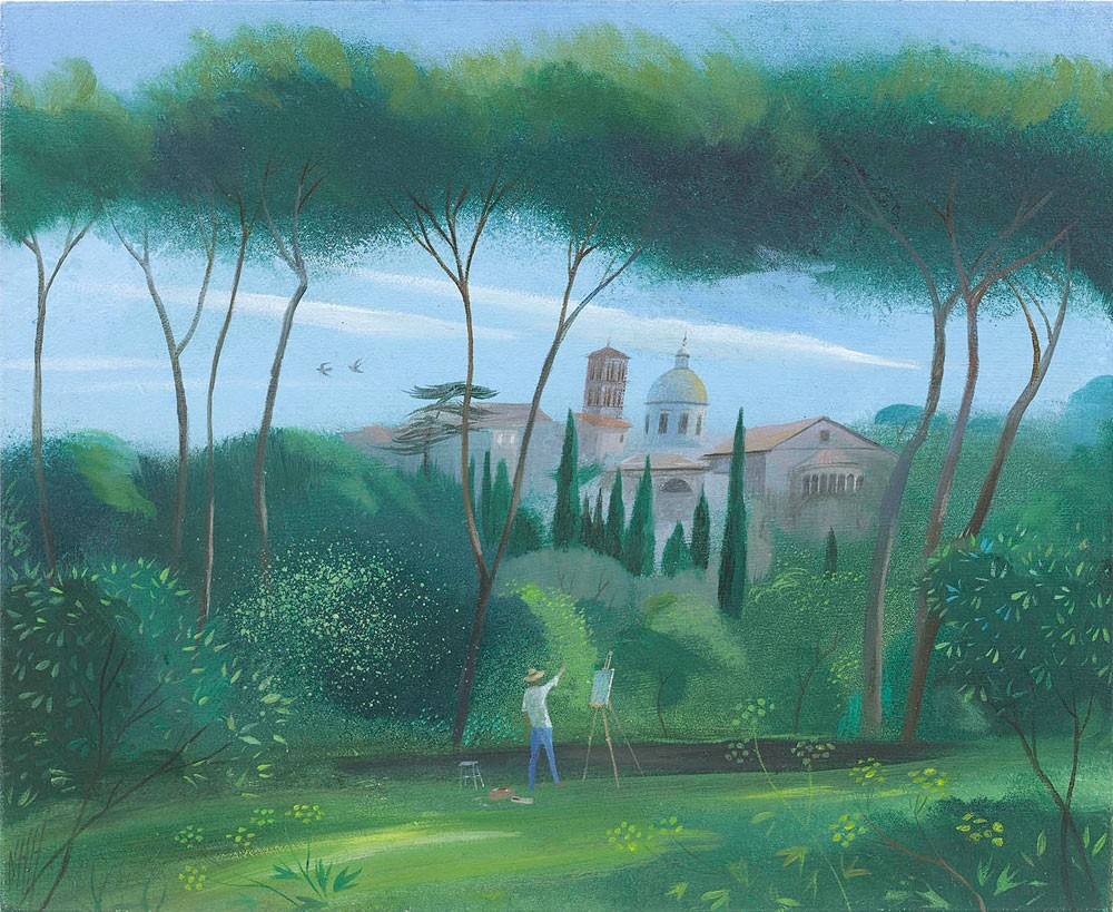 Painting by the Palatine Hill