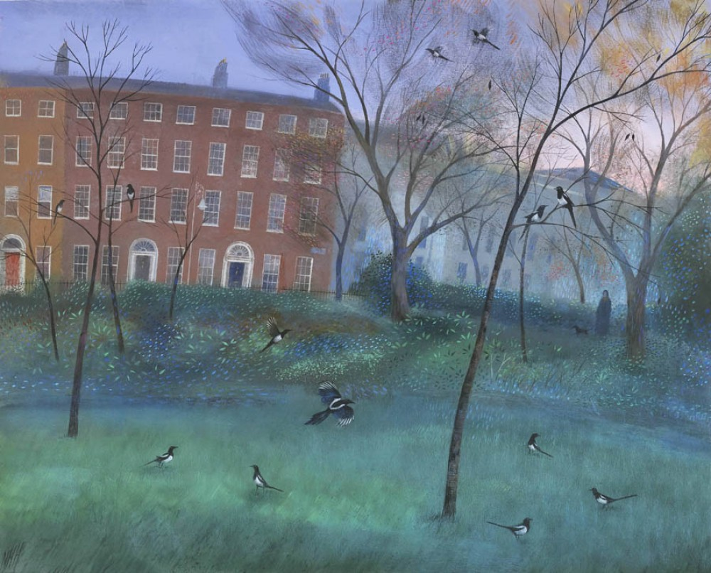 Magpies in Merrion Square