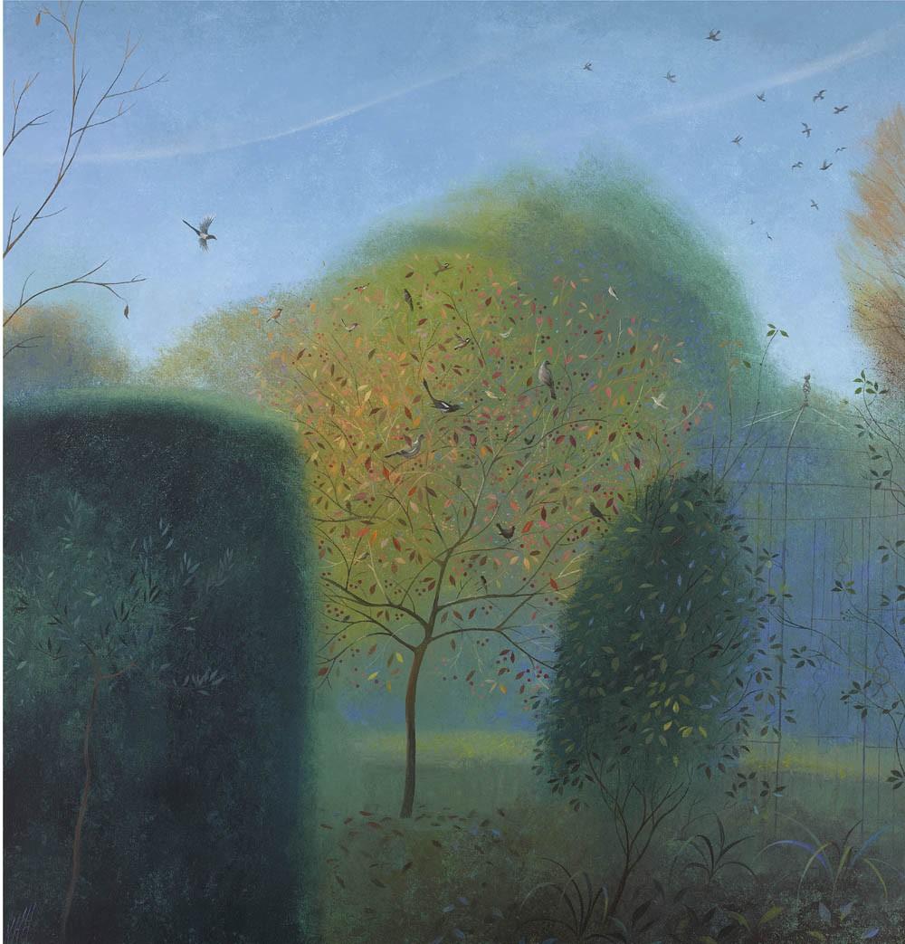 Birds in the Crabapple Tree