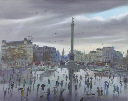 Winter Evening, Trafalgar Square