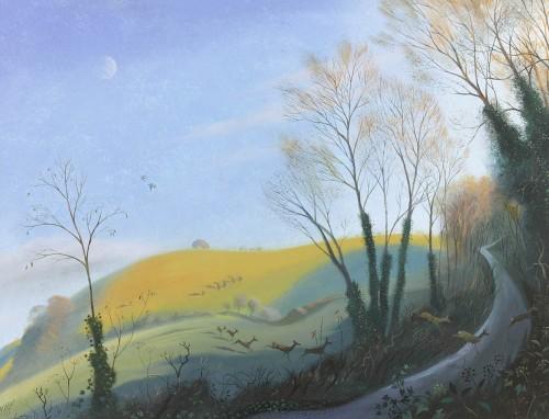 A Winter Evening near Win Green