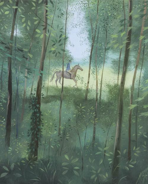 Horseman Through the Trees